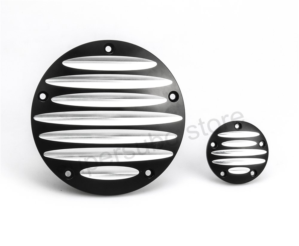 Black CNC Cut Derby cover timer for harley street glide Timer Cover Harley Road Glide FLHX Derby timing covers Fatboy