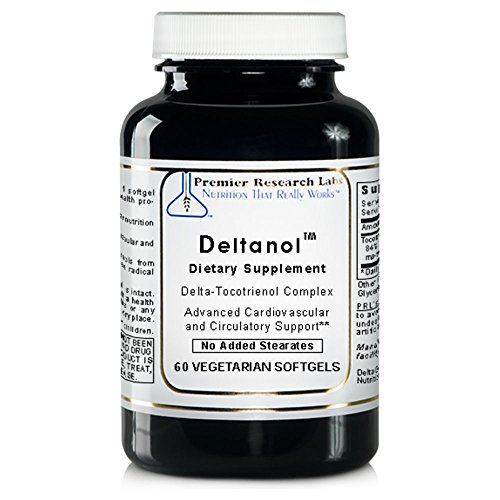 Deltanol TM, 60 Capsules - Delta-Tocotrienol Complex for Advanced Cardiovascular and Circulatory Support by Premier Research Labs
