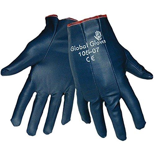 Global Glove 105 Nitrile Impregnated Dipped Glove, Work, Large, Light Blue (Case of 144) (Work Glove Impregnated)