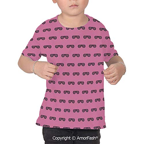 Pink Boys and Girls All Over Print T-Shirt,Crew Neck T-Shirt,Retro Vintage House -