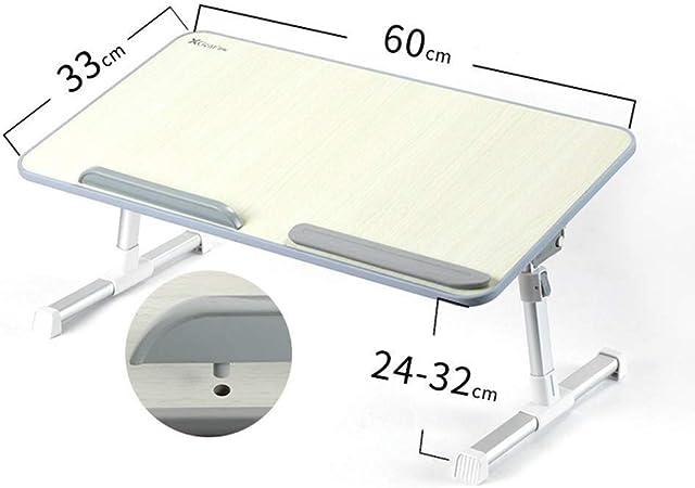 Mesas de comedor Mesa de Centro Mesa Plegable portátil for la Altura y el Cuaderno de ángulo Ajustable de pie for el hogar Sala/Dormitorio (Size : 60 * 33 * 32cm): Amazon.es: Hogar