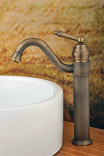 Hlluya Professional Sink Mixer Tap Kitchen Faucet Faucet Antique-Brass Faucet Basin Mixer Water Faucet 1067 ()