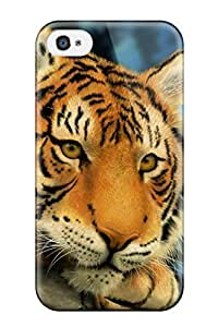 Fashion SjqLYUl1969VjLhM Case Cover For Iphone 4/4s(tiger Painting)