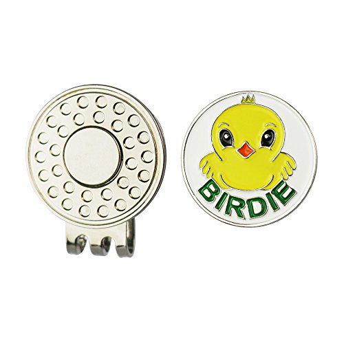GOLTERS Golf Ball Marker and Strong Magnetic Golf Hat Clip (Birdie)