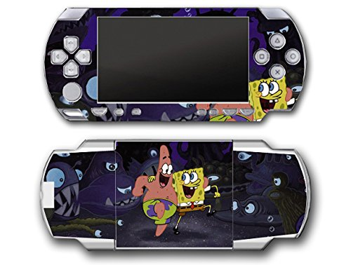 Spongebob Squarepants Patrick Friends Octopus Video Game Vinyl Decal Skin Sticker Cover for Sony PSP Playstation Portable Original Fat 1000 Series System (Spongebob Video Games Xbox)