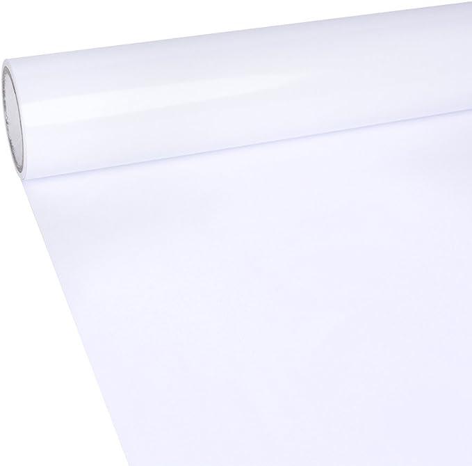 Vinilo adhesivo permanente blanco brillante 30x300cm para cortadores de arte, letras, calcomanías y trazadores: Amazon.es: Hogar