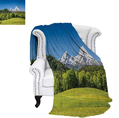 Digital Printing Blanket Bavarian Alps Village of Berchtesgaden and Watzmann Germany Summer Quilt Comforter 62