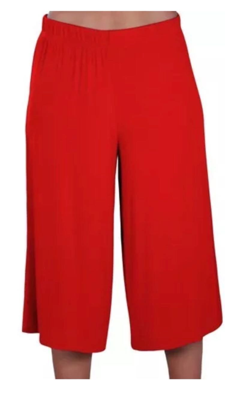 Mymixtrendz. Womens Plus Size Cropped Plain Wide Leg Elasticated Waist Stretch Ladies Mini Culottes Shorts