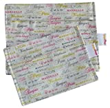 gogoBags Reusable Sandwich And Snack Bags - Made In Canada - 100%cotton (Paris)