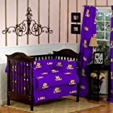 LSU TIGERS 100% COTTON BABY CRIB BEDDING - 5 PC SET
