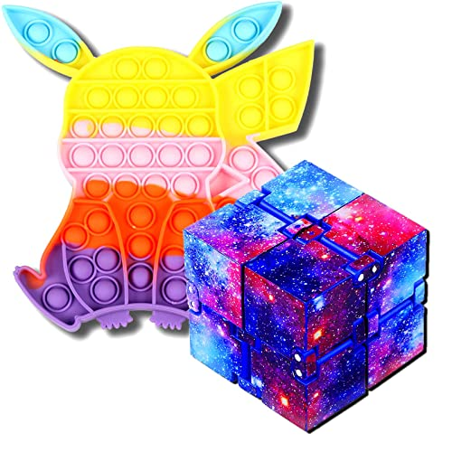 Infinity Cubes Fidget Toys Set, Advent Calendars 2021 Push Sensory Bubbles It Fidget Toys for Stress and Anxiety Relief for Adults Hand-Held Magic Puzzle, Fidget Cube for ADD ADHD Killing Time