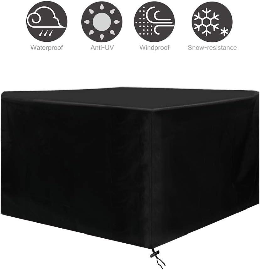 Osarke Fundas para Muebles de Jardin Funda Mesa Exterior Impermeable 420D Oxford Funda Mesa Jardin Cubierta Protectora Anti-UV 135 X 135 X 75cm