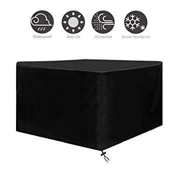 Osarke Garden Furniture Covers Waterproof Square Outdoor Furniture Cover For Table Chairs Rattan Furniture Covers Protective Patio Furniture Cover