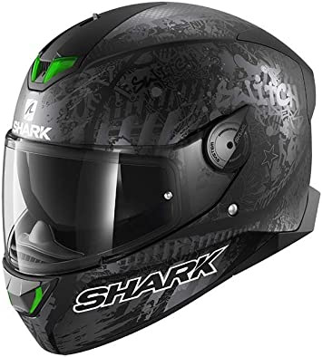 Shark Herren Nc Motorrad Helm Schwarz Grau Xl Auto