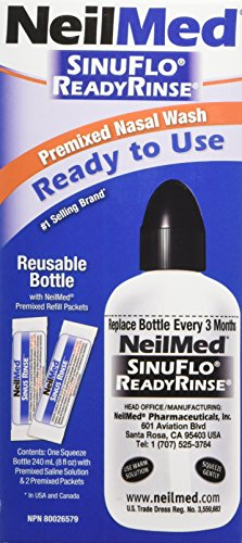 Neil Med SinuFlo Ready Rinse, 8 ounces Bottle (Ready Neilmed Sinuflo Rinse)