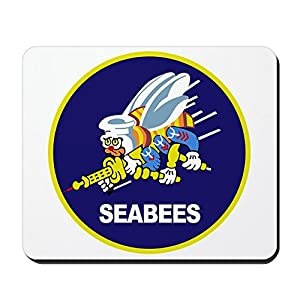 CafePress - Seabees_Navy - Non-Slip Rubber Mousepad, Gaming Mouse Pad from CafePress
