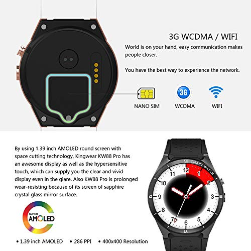 KDSFJIKUYB Smartwatch KW88 Pro Smart Watch 1GB RAM 16GB ROM ...