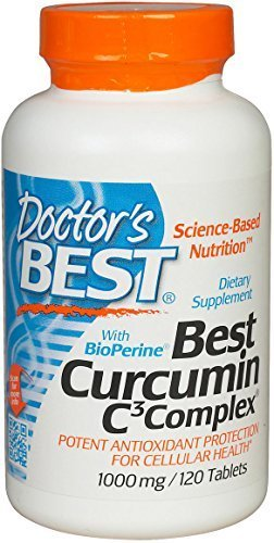 Curcumin from Turmeric Root with Curcumin C3 & BioPerine 1000mg 120 Count by Doctor's Best