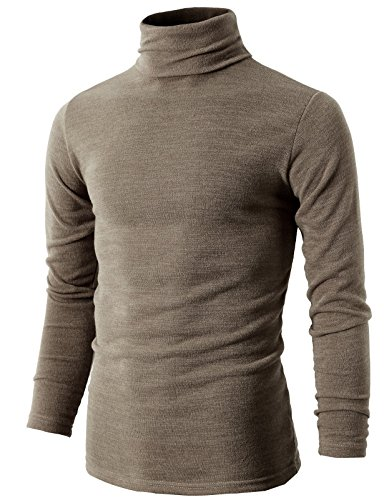 H2H Knitted Turtleneck Pullover Sweaters