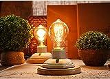 Steampunk Ceramic Table Lamp Vintage Desk Light E27 Wooden Base Edison Table Light Bulbs Review
