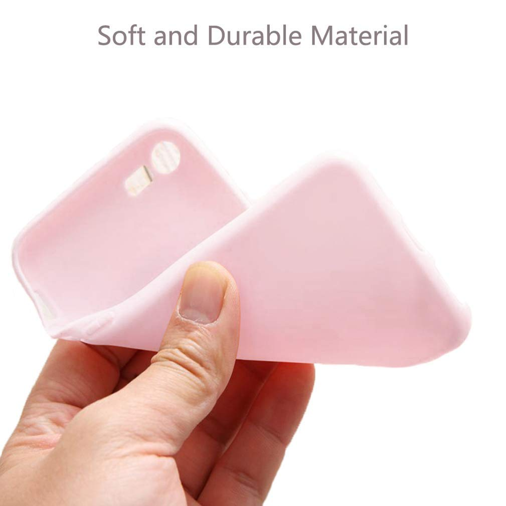 2 Pack iPhone 5 5S SE Case Super Cute Love-Heart Shape Soft TPU Silicone Cover Anti-Scratch Shockproof Back Bumper Shell Case Cover for iPhone 5//5S//SE-Black//Pink