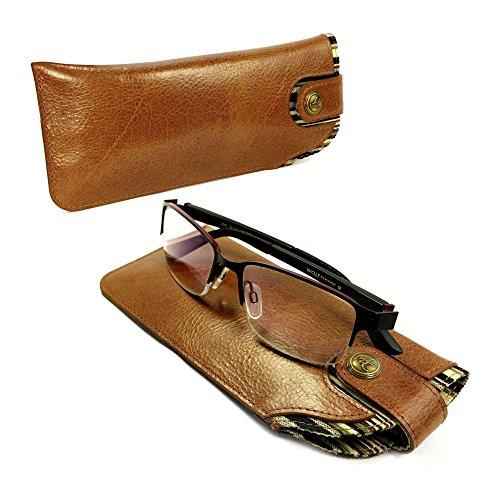 Alston Craig Personalised Vintage leather case for Glasses / Sunglasses - - Case Glasses Personalised