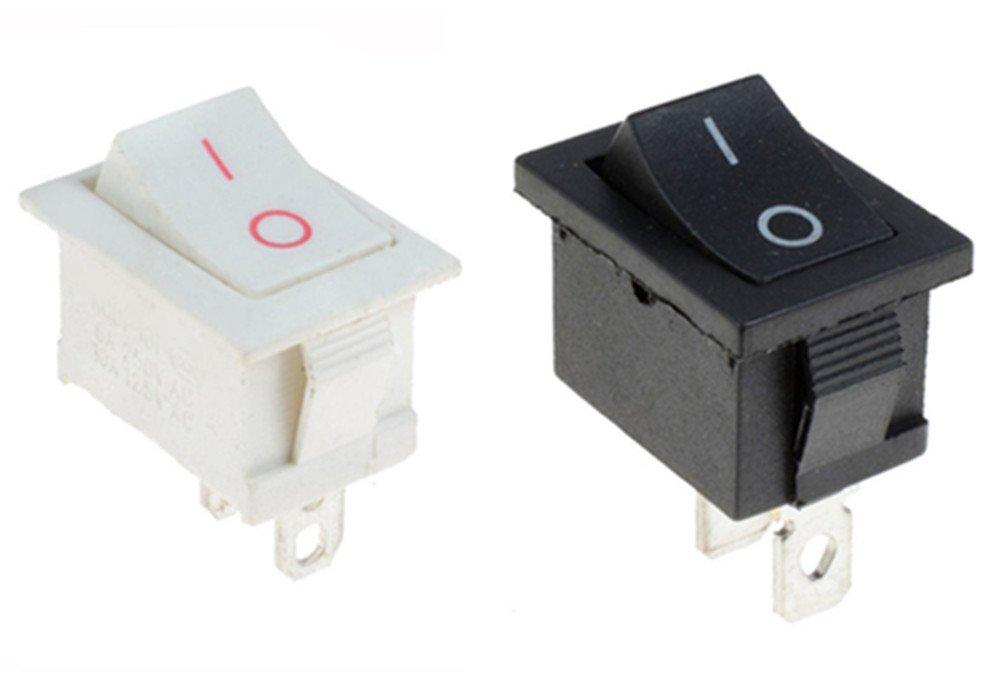 apagado Interruptor oscilante interruptor unipolar y cubierta a prueba de agua Outstanding/® 2pcs de encendido