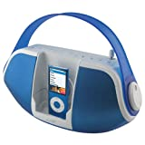 iLive iB109 Portable Speaker System for iPod with AM/FM Radio (Blue)