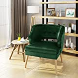 Michaela Mid Century Emerald Velvet Accent Chair Review