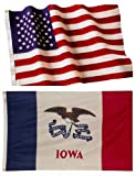 Iowa State Flags (5×8 US Combo) For Sale