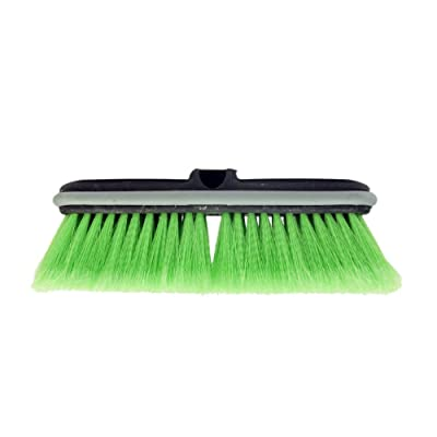 "CARCAREZ 10"" Flow-Thru Car Washing Brush Head, Green: Automotive"
