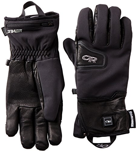 Black Research Heated Outdoor Stormtracker Gloves A4Rj35L