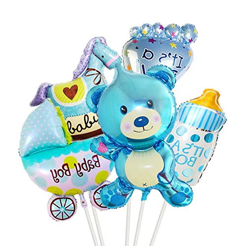 5 Pieces Cute Baby Shower foil Balloons
