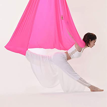 ZENWEN Aéreo Yoga Hamaca Cubierta de Gran Altura Sling Bed ...