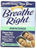Breathe Right Mentholated Vapor Strips for Cold & Allergy Relief, Small/Medium, 28-Count Boxes (Pack of 2)