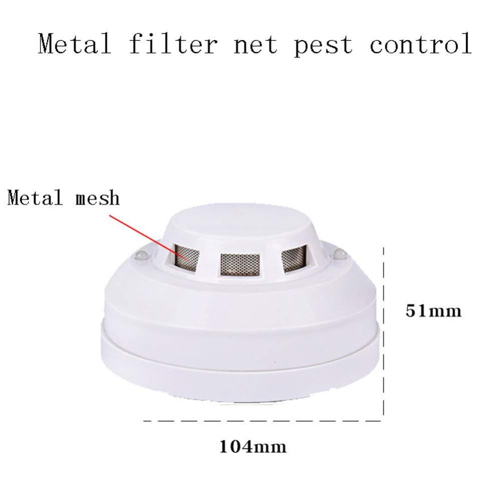 Detector De Incendios De Humo Alarma De Cable De Red Cableado Inteligente Bot/óN De Calor con Luz para El Sistema De Radio De Cocina De La Casa