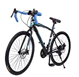 Wakrays Detachable Fixed Gear Bike Fixie Single Speed Racing Road Bike Cycling Road Bicycle