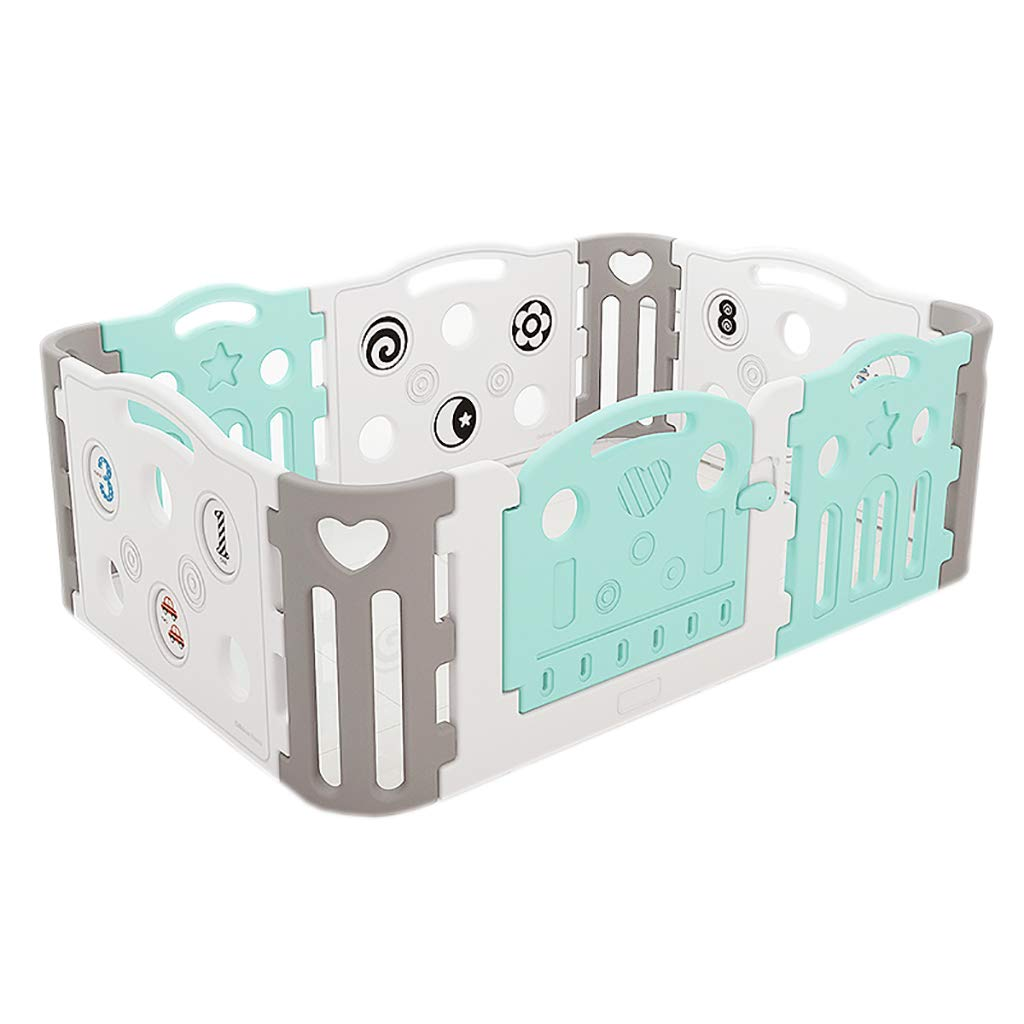 ゲームステーション幼児安全柵10パネルと赤ちゃんデジタルベビーサークル   B07R1YT7VG