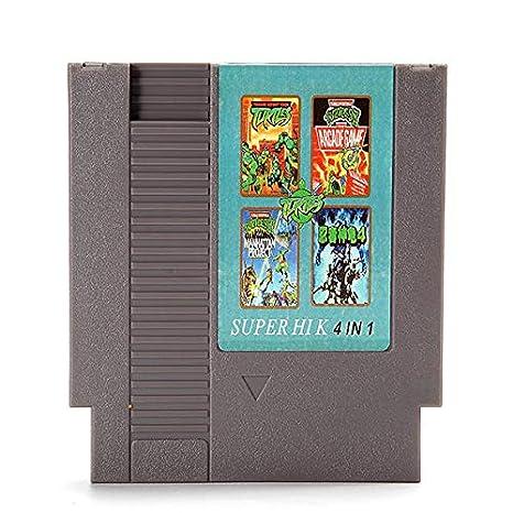 4 in 1 8 Bit 72 Pin Game Cartridge Teenage Mutant Ninja Turtles