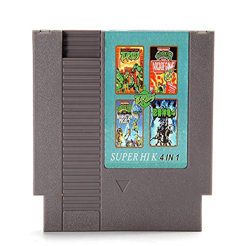 4 in 1 8 Bit 72 Pin Game Cartridge Teenage Mutant Ninja Turtles - Retro Games Accessories Cartridge For Nintendo - 4 in 1 8 Bit 72 Pin Game Cartridge]()