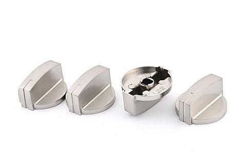 Botones PriMi para controlar la temperatura de la cocina y horno, de metal, (