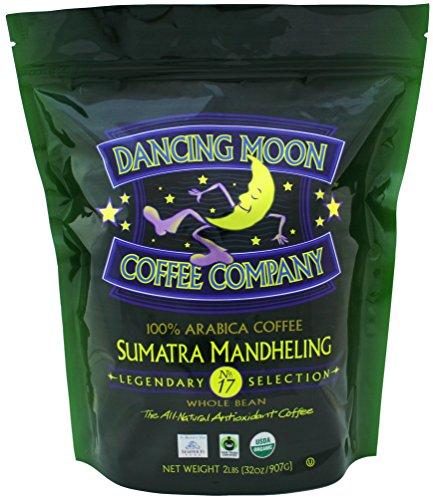 Dancing Moon Sumatra Mandheling Whole Bean Organic Fair Trade Antioxidant Coffee, 2 (Sumatra Mandheling Gourmet Coffee)
