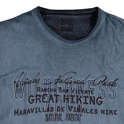 engbers Herren Rundhals T-Shirt, 23655, Blau