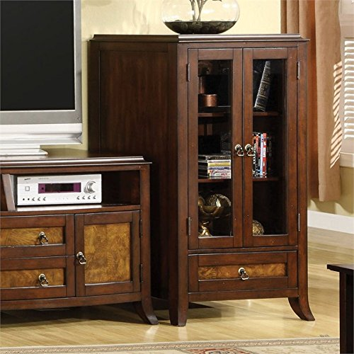 Dorinda Side Pier Cabinet in Brown Cherry and Oak ()