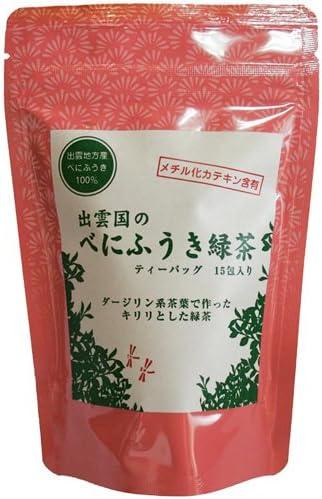 西製茶所 出雲国のべにふうき緑茶ティーバッグ 2g×15包