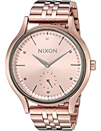 Nixon Women's 'Sala' Quartz Stainless Steel Automatic Watch, Color:Rose Gold-Toned (Model: A9942046-00)