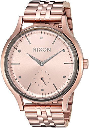 Nixon Women's 'Sala' Quartz Stainless Steel Automatic Watch, Color:Rose Gold-Toned (Model: A9942046-00)