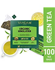 Grüne Teeblätter aus dem Himalaya (100 Teebeutel), 100% natürlicher Gewichtsverlust-Tee, Detox-Tee, Schlankheitstee, Anti-OXIDANTS Rich - Grüner Tee Loseblatt