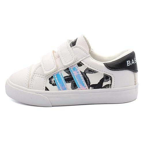 Zapatillas de Deporte Ocasionales Unisex para niños Zapatillas de Deporte Planas cómodas para Caminar con Velcro con Velcro: Amazon.es: Zapatos y ...