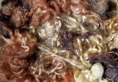 brown blond black mohair locks doll hair wig making supplies ()